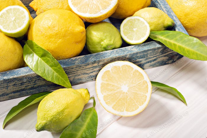 Fresh organic lemon