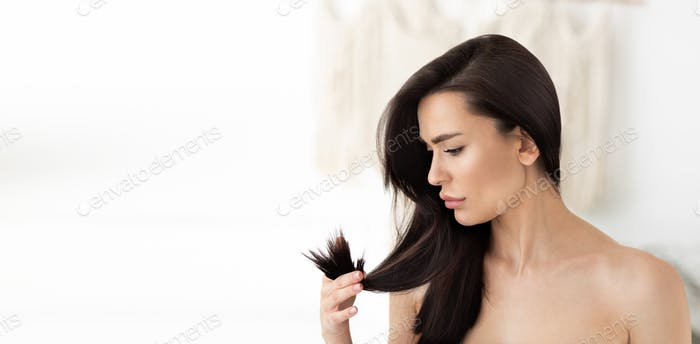 Dry, brittle hair, ad, beauty bloggers advises about shampoo and balm