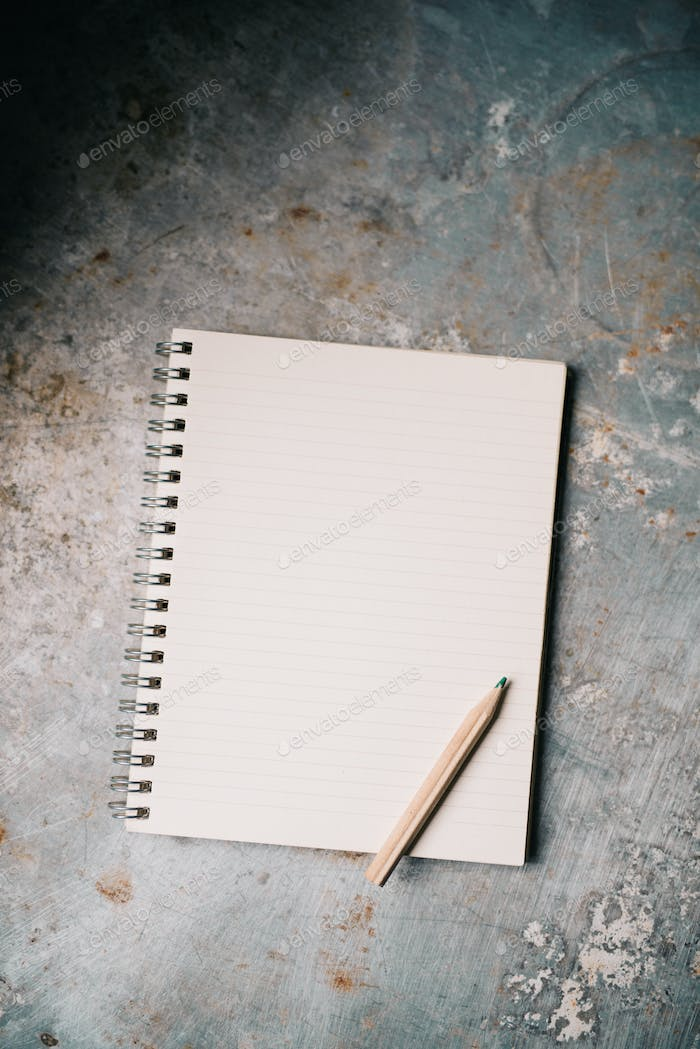 Blank white notepad