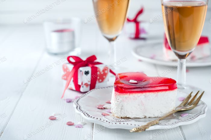 Delicious cake for Valentine Day