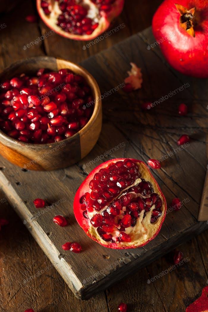 Raw Organic Red Pomegranates