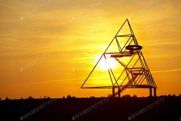Tetraeder Bottrop At Sunset