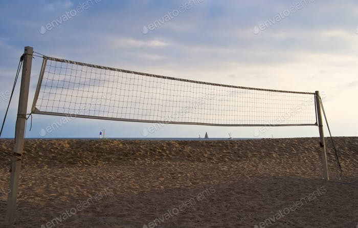 Volleyball Net on Beach