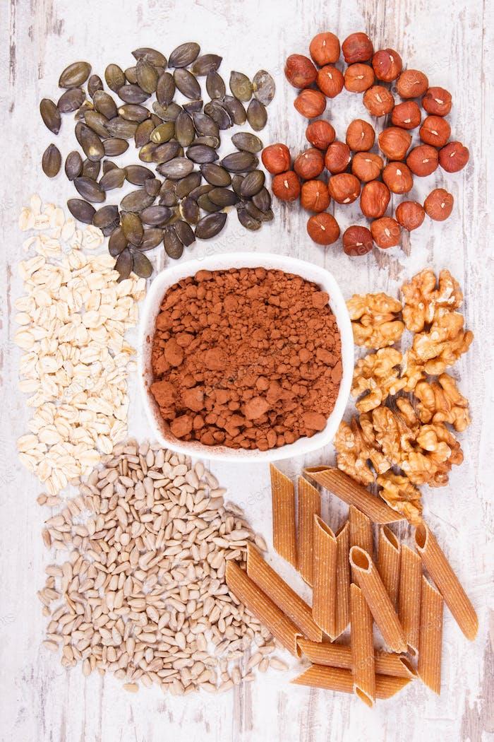Natürliche Inhaltsstoffe als Quelle Kupfer, Mineralien und Ballaststoffe