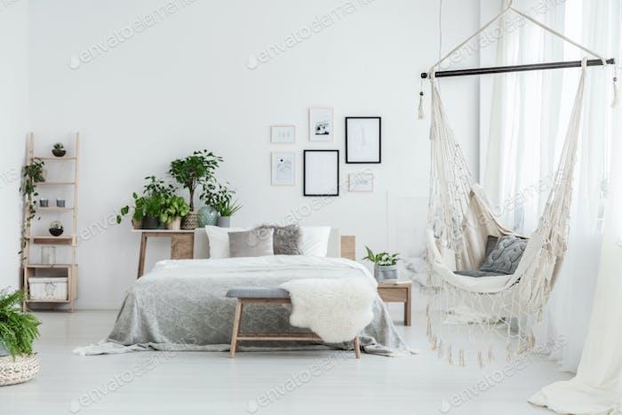 Brazilian chair in bedroom