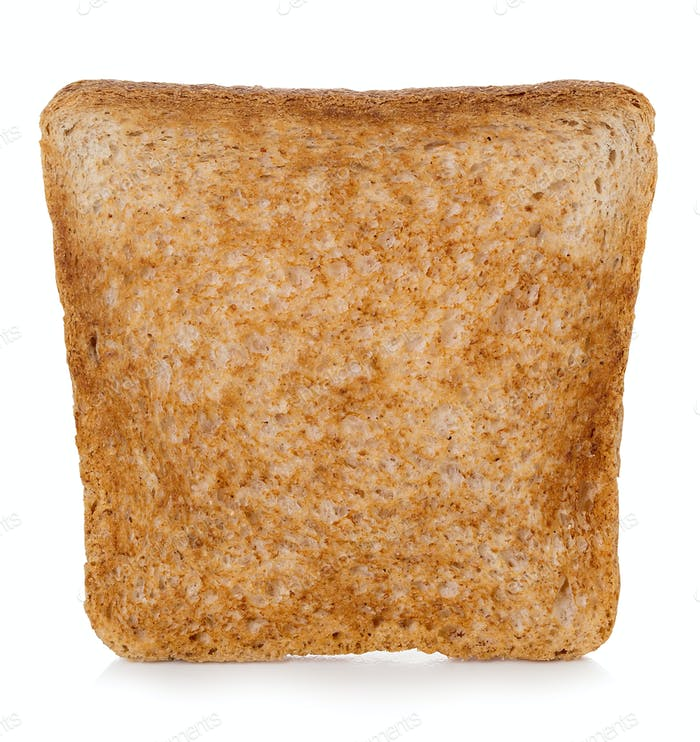 Sliced Toast bread isolated on white background.