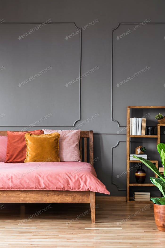 Modern colorful bedroom interior