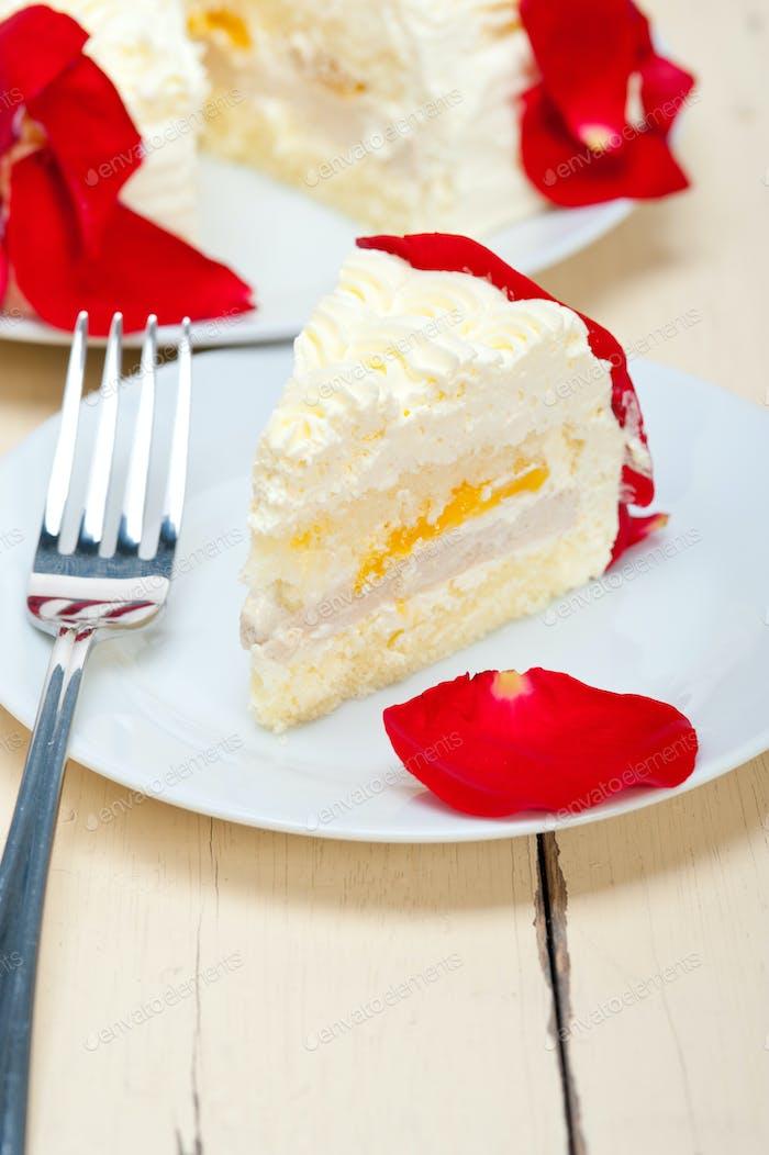 Schlagsahne Mango Kuchen