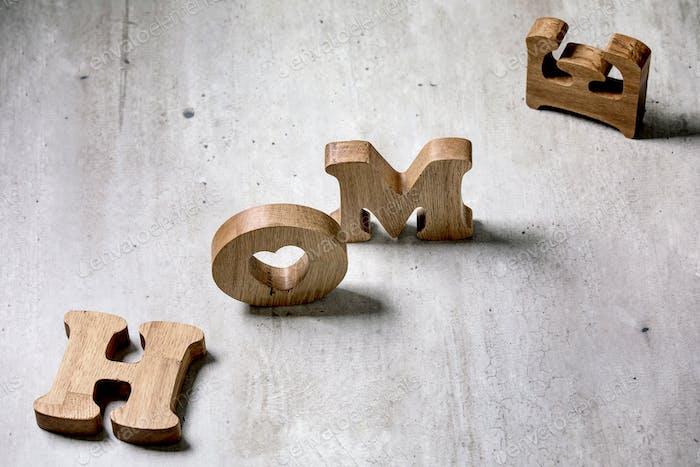 Letras de madera HOME
