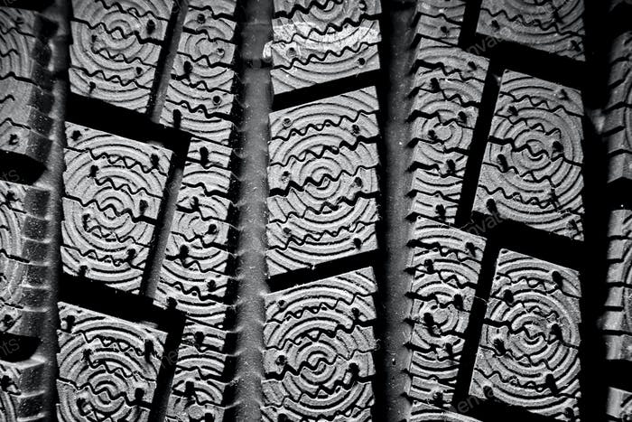 Winter tire background