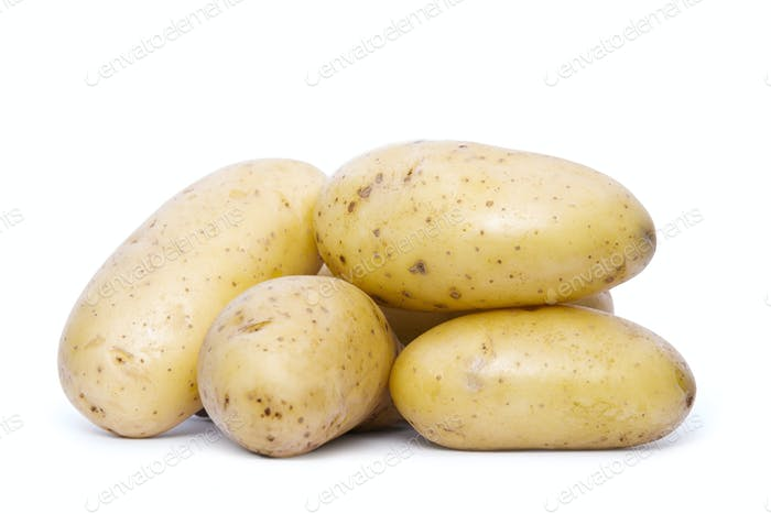 Pile Of Organic Potatoes