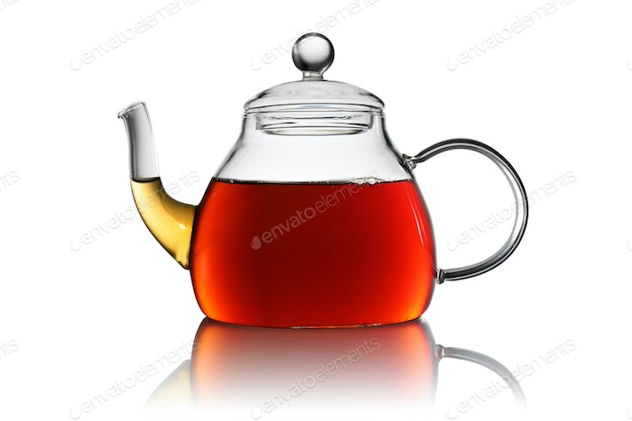 Transparent teapot isolated