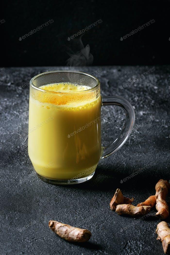 Turmeric golden milk latte