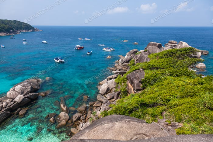 Similan island beach near Phuket in Thailand