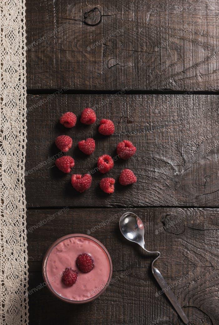 raspberry - banana smoothie