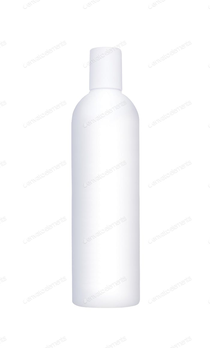 Shampoo, Gel Or Lotion White Plastic Bottle