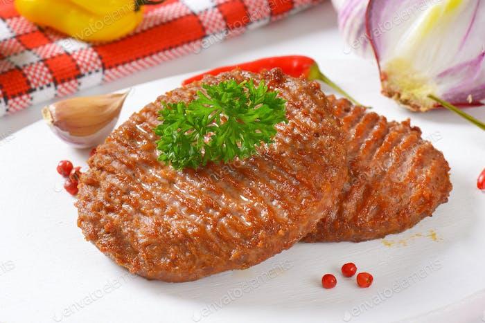 pan fried hamburger patties