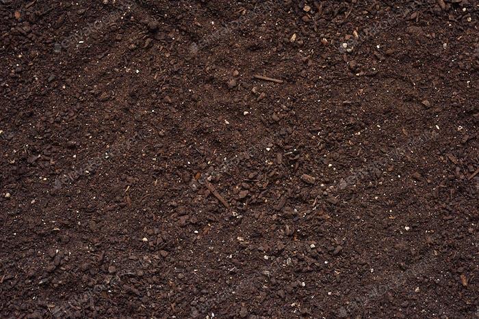 Landwirtschaftliche Bodenbeschaffenheit Draufsicht