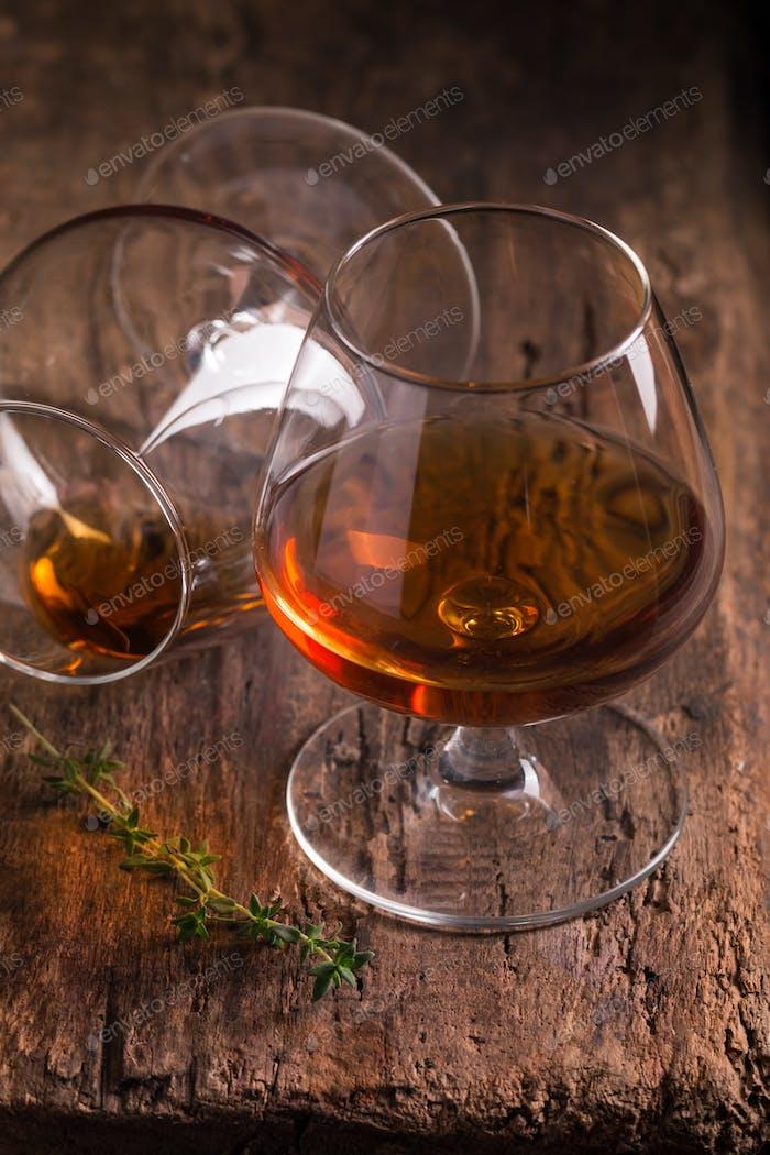 Glass of brandy or cognac