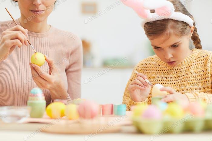 Girl Wearing Bunny Ears on Easter