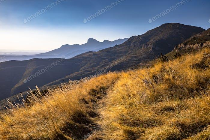 View of Sierra de Guara mountains