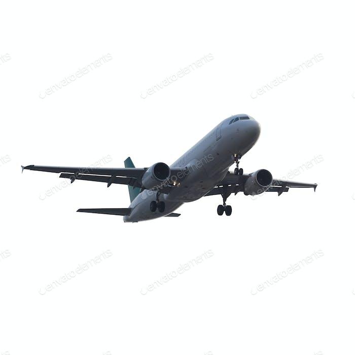 modernes Flugzeug isoliert