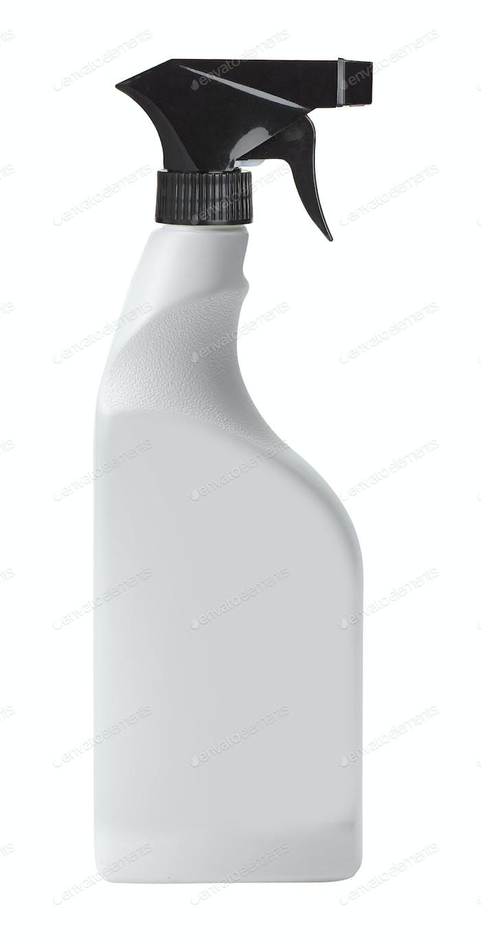 White Spray Bottle Isolated