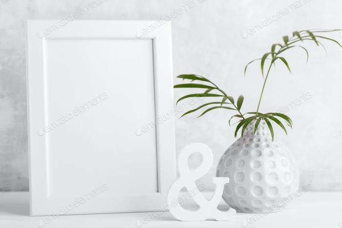 Modern picture frame mock up