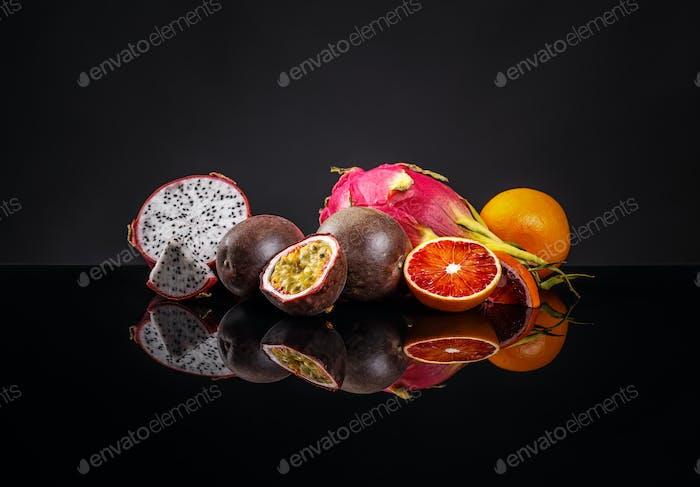 Gesunde exotische Früchte Konzept