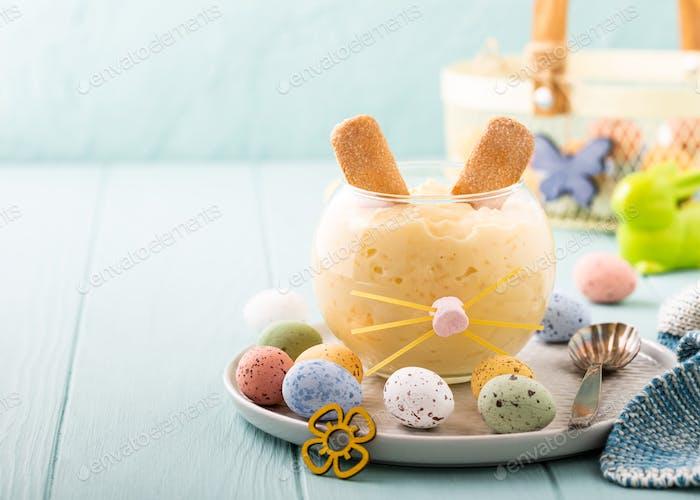Rice pudding dessert