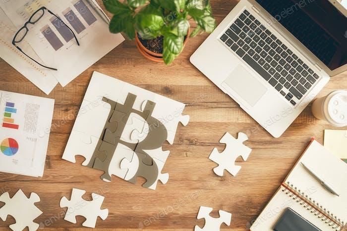 Símbolo de bitcoins