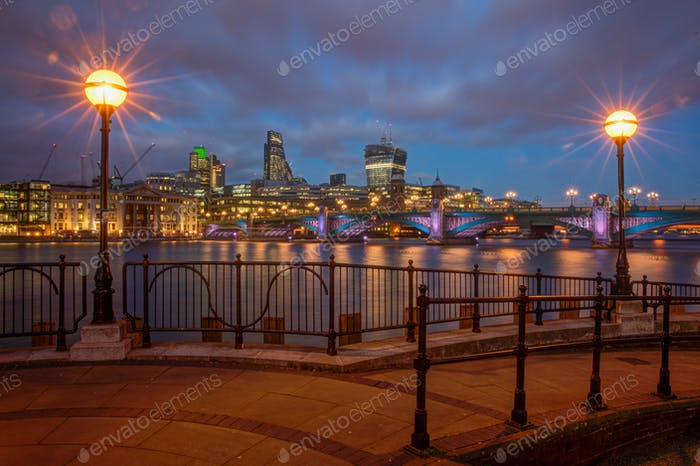 Southwark Bridge Panorama