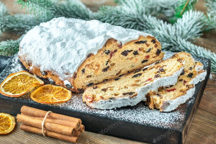 Stollen - traditional German Christmas bread