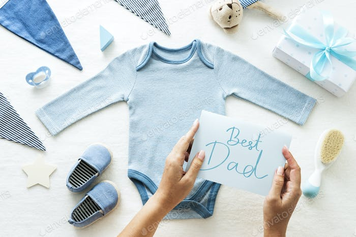 Baby shower themed Best Dad card