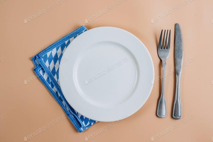 Oktoberfest table setting