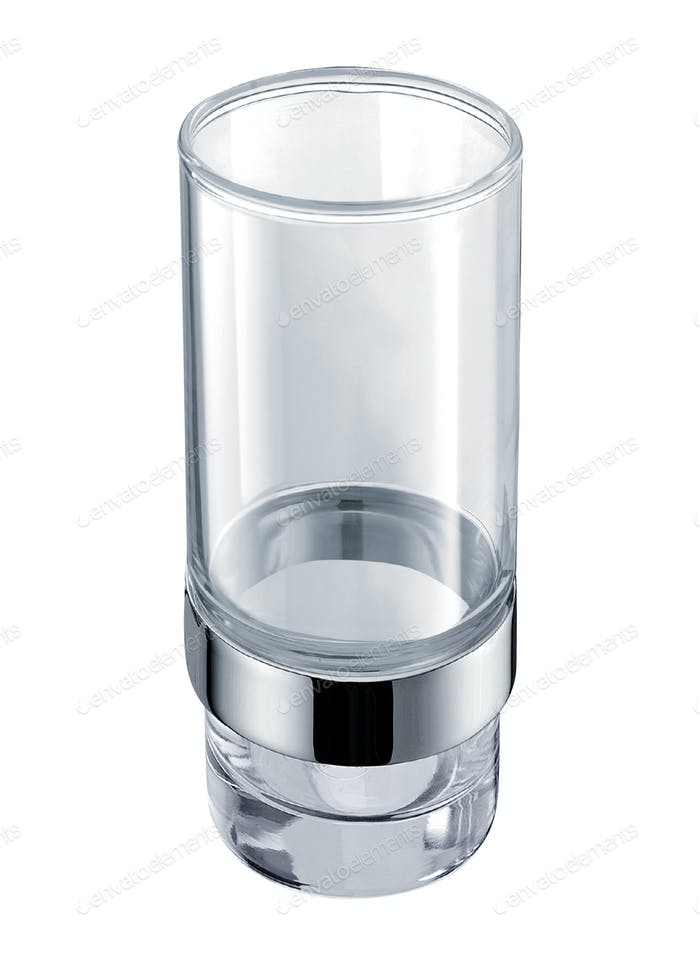 Empty glass for water