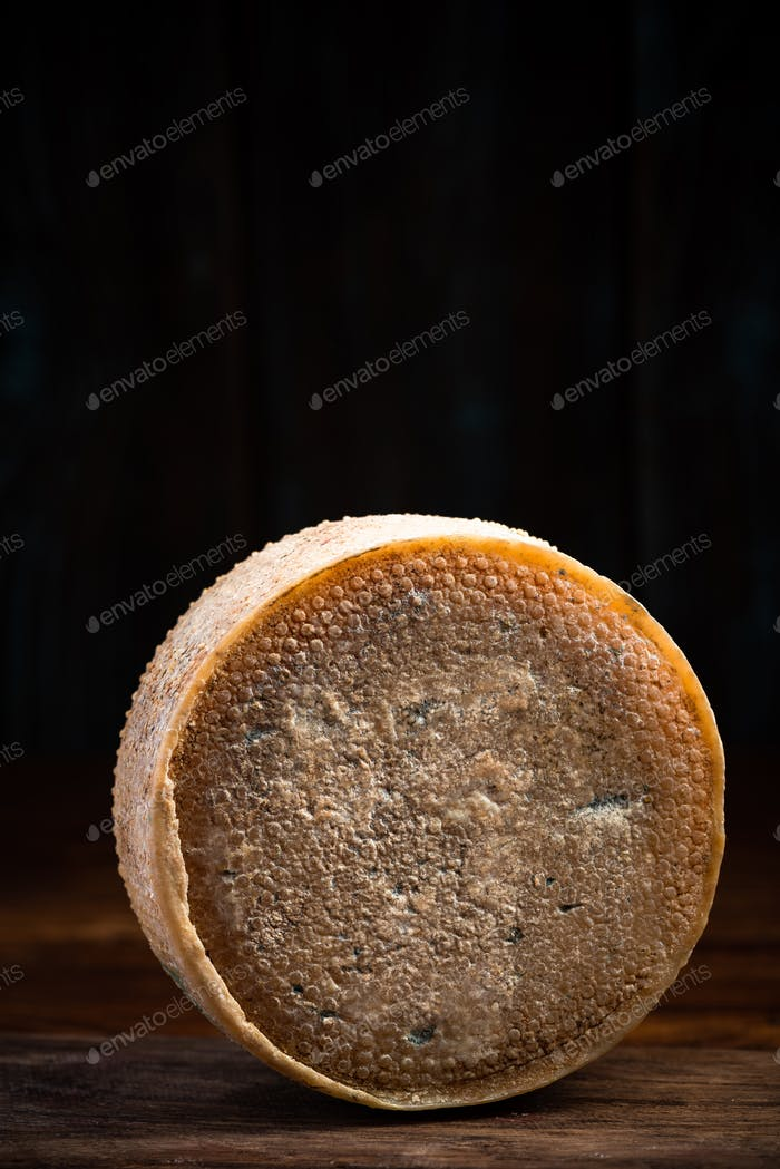 Hard Matured and Aged Cheese Wheel