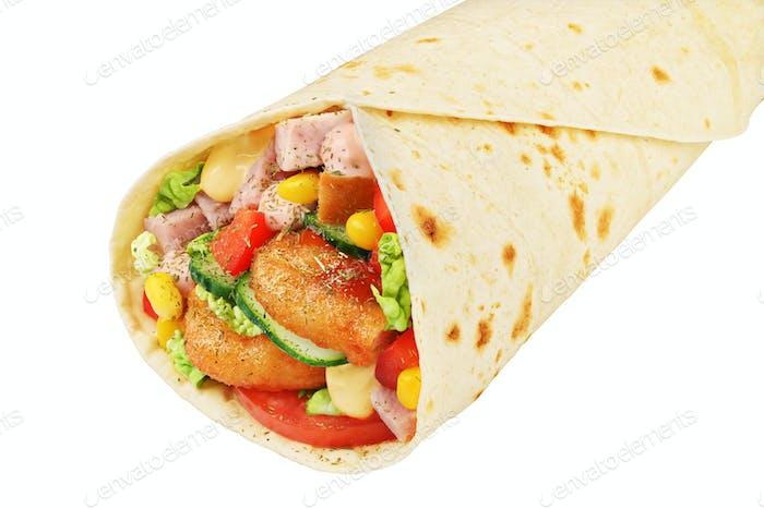 Wrap Sandwich isoliert