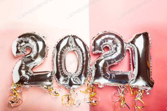 Balloon Bunting for celebration of New Year 2021