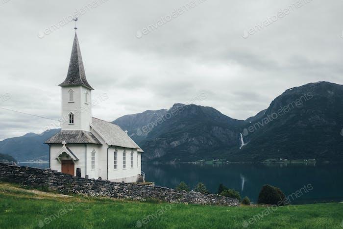 Typische Christentum Kirche in Norwegen