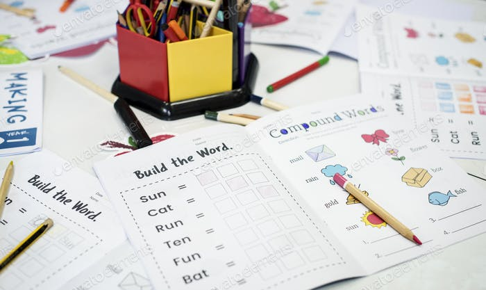 Students vocabulary coloring workbook