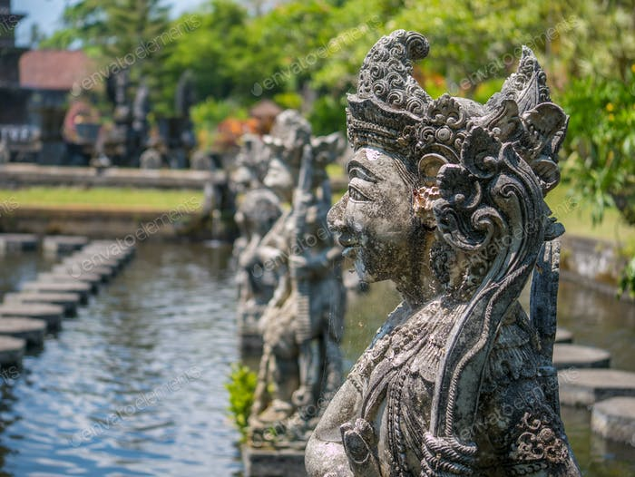 Statue at the Water Palace, Bali