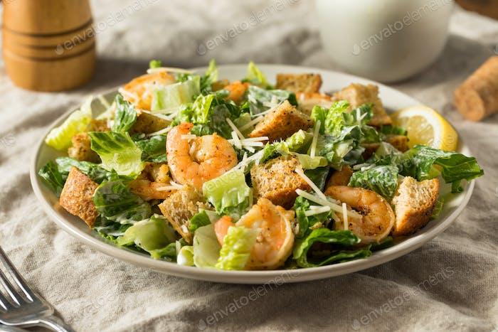 Homemade Shrimp Caesar Salad