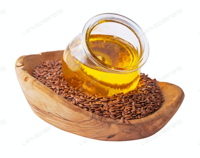Linseed oil isolated