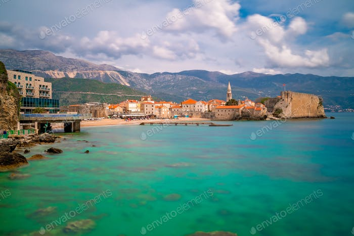 Beautiful Adriatic sea coast around Budva