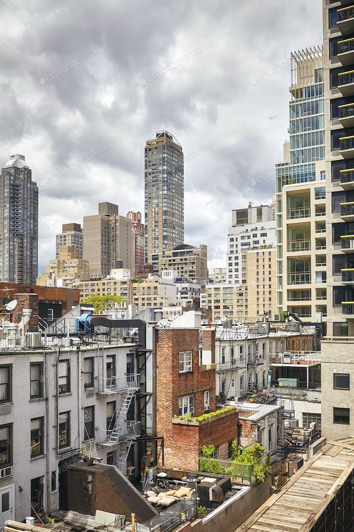 Manhattan residential district, New York, USA.