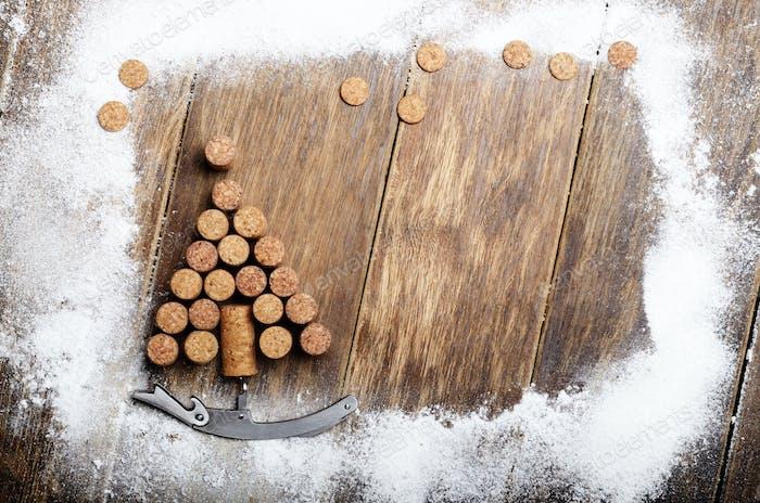Corks Christmas backround