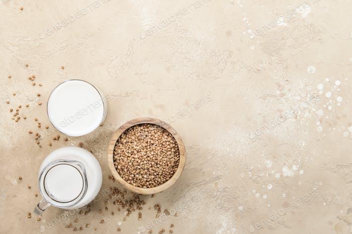Buckwheat plant based mil