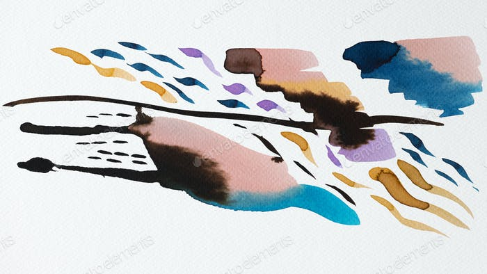 Colorful abstract watercolor art
