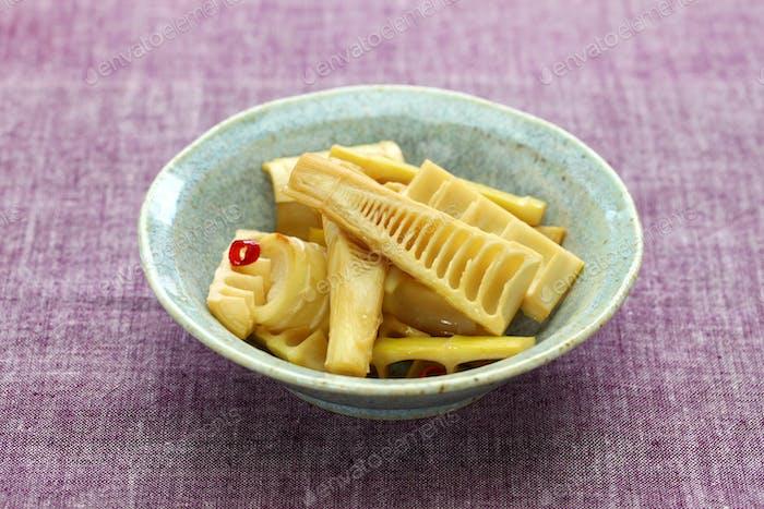 rühren gebratene Madake Bambus-Sprossen, traditionelle japanische Küche